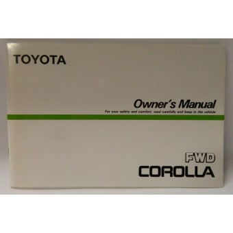 Toyota Corolla Owner's Manual